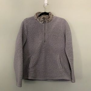 Abercrombie & Fitch Sherpa Quarter Zip Pullover